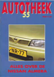"Almera ""Autotheek"" brochure, 36 pages, 10/1995, Dutch language, Issue 55"