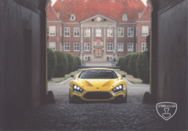 Zenvo TS1 sports car, A5-size postcard, factory-issued, 2018, month: June