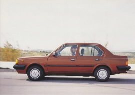 343 Sedan, A6-size postcard, 1984, Dutch language