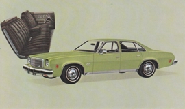 Malibu Classic Colonnade Hardtop Sedan,  US postcard, standard size, 1974