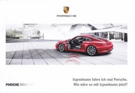 911 Carrera hire car - program inside folder, 4 pages, 06/2015, German