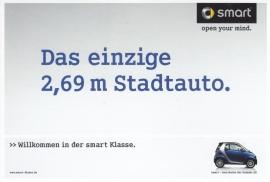 Fortwo postcard, 16x11 cm, fold-card, HRC K09 01/09, German language