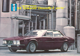 De Tomaso Deauville 4-Porte, advertising postcard, factory-issued, about 1975