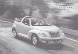 PT Cruiser Cabrio specifications & prices brochure, 6 pages, 05/2004, Dutch language