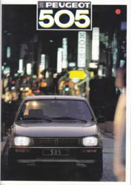 505 Sedan brochure, 30 pages, A4-size, 1987, Dutch language