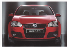 Golf GTI, 6 different attached A6-size postcards, Dutch, about 2006