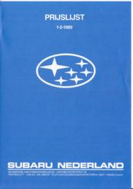 Program pricelist brochure, 4 pages, Dutch language, 02/1989