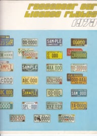 US License Plates brochure, 4 pages, 1973, English language