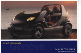 Smart Crossblade, A6-size postcard, Geneva 2002