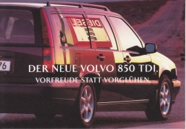 850 TDI Wagon introduction card, German issue, 16 x 11 cm, IAA 1995