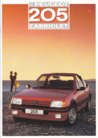 205 Cabriolet brochure, 10 pages, A4-size, 1987, English language (UK)
