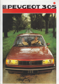 305 Sedan brochure, 28 pages, A4-size, 1986, Dutch language