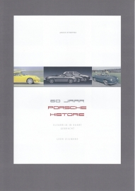 Porsche 60 years of history, illustrated in postcards. My own book. The 4 page folder. FREE OF CHARGE
