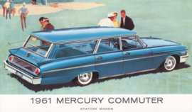 Commuter Station Wagon, US postcard, standard size, 1961