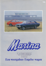 Marina all model brochure, 4 pages, A4-size, 07/1971, Dutch language