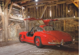 300 SL Coupe, continental size postcard, Bildermeister, 03/2015