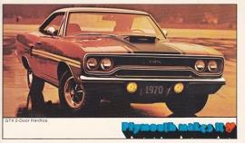 GTX 2-Door Hardtop, US postcard, standard size, 1970