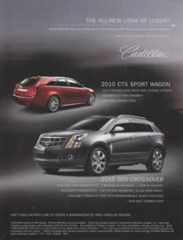 CTS Sport Wagon & SRX Crossover, large sheet, USA, 2010, English