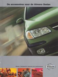 Almera Sedan accessories brochure, 10 pages, about 2002, Dutch language