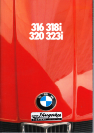316/318i/320/323i brochure, 40 pages, A4-size, 2/1980, German language