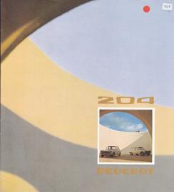 204 Sedan & Break brochure, 12 pages, square size, 07/73, Dutch language