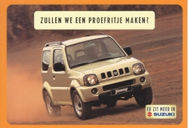 Jimny, DIN A6-size postcard, Dutch language, 1999