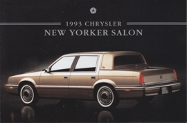 New Yorker Salon, US postcard, continental size, 1993