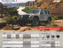 Wrangler Rubicon X leaflet, 2 pages, 07/2014, Dutch language (Belgium)