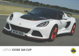 Exige 360 Cup, 2 page leaflet, DIN A4-size, factory-issued, English language