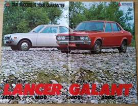 Colt Lancer & Galant fold-out brochure, 8 pages, 8/1974, English language