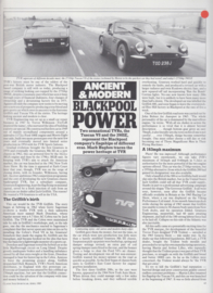 Tuscan V8 & 390SE roadtest Classic and Sportscar magazine, 4 pages, English language, 4/1985 *