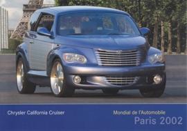 Chrysler California Cruiser, A6-size postcard, Paris 2002