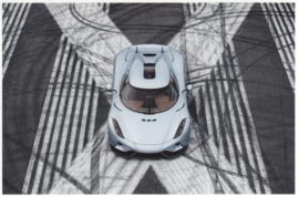 Regera, A6-size postcard, factory-issued, English text, 2015