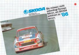 105/120/130/Coupé brochure, 4 pages, German language, 1986