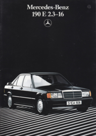 190E 2.3-16 brochure,  28 pages, 06/1986, German language