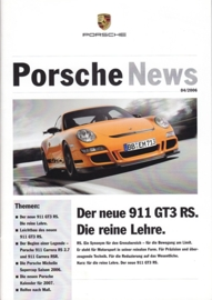 News 04/2006 with 911 GT3 RS, 24 pages, 10/06, German language