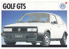 Golf GTS leaflet, A4-size, 2 pages, Dutch language, about 1988