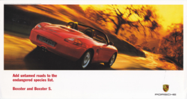 Boxster / Boxster S, large advertising card, US market, 2000, English
