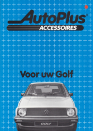 Golf accessories (Zubehör) brochure, 6 pages,  A4-size, Dutch language, 1984