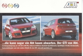 Golf GTi tuned by ABT,  A6-size postcard, German language, about 2006