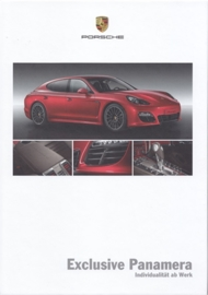 Panamera Exclusive brochure, 48 pages, 02/2012, hard covers, German
