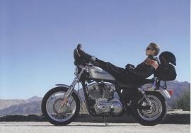 Harley-Davidson XL 883 Sportster, continental size postcard, English language