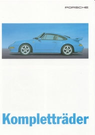 911 Carrera 89-93/93- complete wheels brochure, 4 pages, 06/95, German