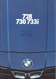 728/730/733i Sedan brochure, 48 pages, A4-size, 1/1979, German language