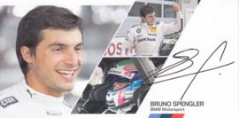 DTM driver Bruno Spengler, oblong autogram card, 2014, German/English