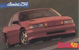 Lumina Z34 Coupe, US postcard, standard size, 1993