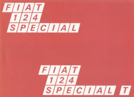 124 Special/Special T Sedan brochure, 8 pages, about 1971, Dutch language