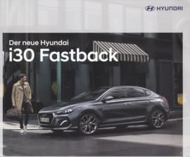 i30 Fastback brochure, 20 pages, 01/2018, German language