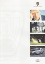 600 Sedan brochure, 6 pages, A4-size, 2/1997, Dutch language