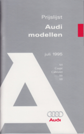 All model pricelist brochure, 104 small pages, 07/1995, Dutch language